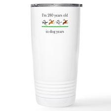 40 birthday dog years 1 Travel Mug