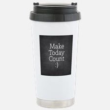Chalkboard Make Today Count Travel Mug