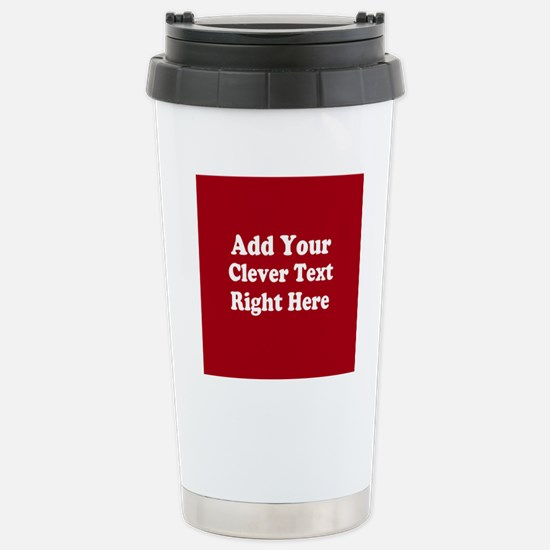 Add Text Background Red White Stainless Steel Trav