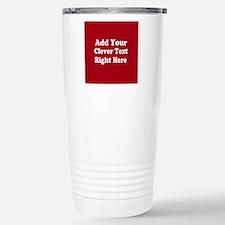 Add Text Background Red White Travel Mug