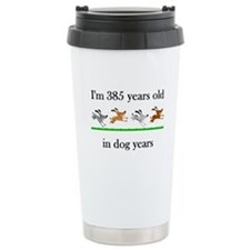 55 dog years birthday 1 Travel Mug