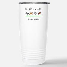 60 birthday dog years 1 Travel Mug