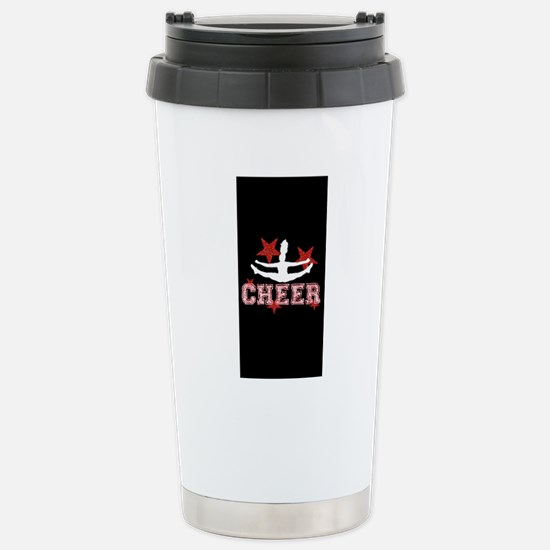 cheer black red Stainless Steel Travel Mug