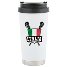 Italia Italy Lacrosse Logo Travel Mug