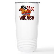 Wicasa the Sage Totem Pony Travel Mug