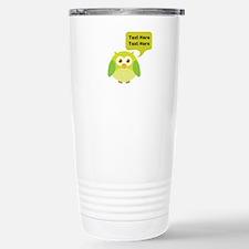 Personalized Funny Owl Travel Mug