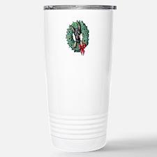 Dobie Christmas Wreath Travel Mug