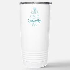 Keep Calm and Cupcake On Travel Mug