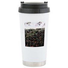 Dew On A Spiderweb Travel Mug
