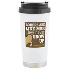 Boxer Dogs and Men Travel Mug