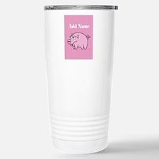 Cute Pig Pink Add Name Travel Mug