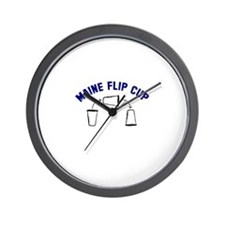 Maine Flip Cup Wall Clock