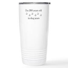 40 birthday dog years 4-1 Travel Mug