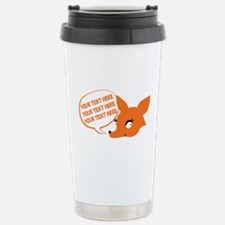 CUSTOM TEXT Cute Fox Travel Mug