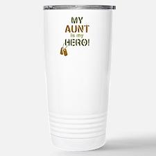 Dog Tag Hero Aunt Travel Mug
