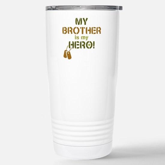 Dog Tag Hero Brother Stainless Steel Travel Mug