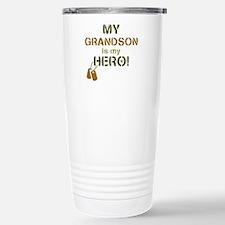 Dog Tag Hero Grandson Stainless Steel Travel Mug