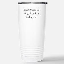 80 birthday dog years 4-1 Travel Mug