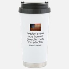Reagan Quote on Freedom Travel Mug