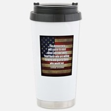 Jefferson Quote Democracy Travel Mug