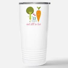 13 Year Anniversary Veggie Couple Travel Mug