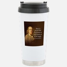 Ben Quote Beer Stainless Steel Travel Mug