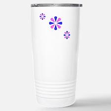 Blue Pink Crest Trio Design Travel Mug