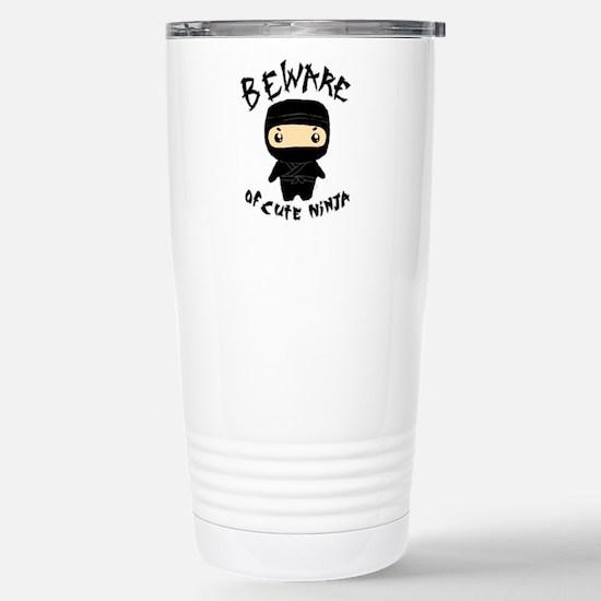 Cute Ninja Stainless Steel Travel Mug