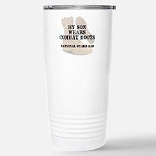 National Guard Dad Son wears DCB Travel Mug