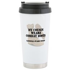 National Guard Cousin wears DCB Travel Mug