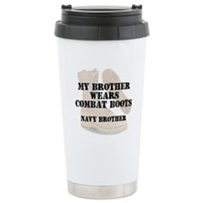 Navy Brother wears CB Travel Mug