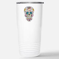 Day of The Dead Sugar Skull, Halloween Travel Mug