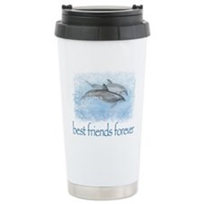 best friends forever dolphins Travel Mug
