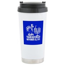 Happy Thanksgivukkah Turkey and Menorah Travel Mug