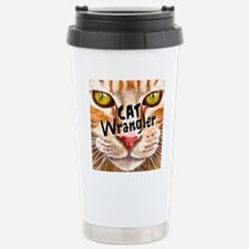 Cat Wrangler 3 Stainless Steel Travel Mug