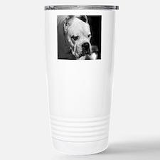 White Boxer mousepad Travel Mug