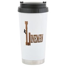 Lineman Wood Travel Mug
