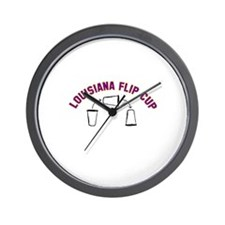 Louisiana Flip Cup Wall Clock