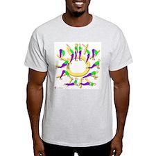 Yoga Sun Salutation Ash Grey T-Shirt