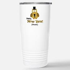 Personalized New Years Owl Travel Mug