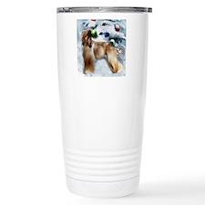 afghan hound christmas  Travel Mug