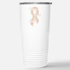 Peace Love Cure Yudu Pe Stainless Steel Travel Mug