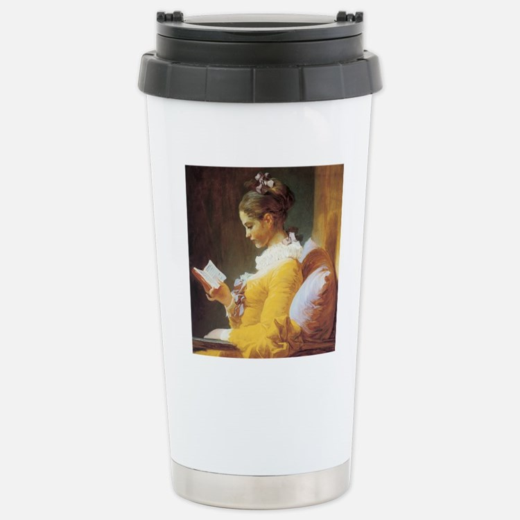 jf_ayounggirlreading Stainless Steel Travel Mug