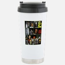 Faces of Halloween Stainless Steel Travel Mug