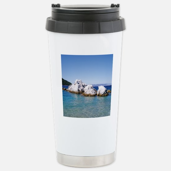 SKOPELOS ROCKS TILE 105 Stainless Steel Travel Mug