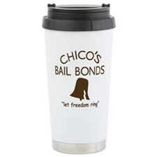 Chicos Bail Bonds Brown Travel Mug