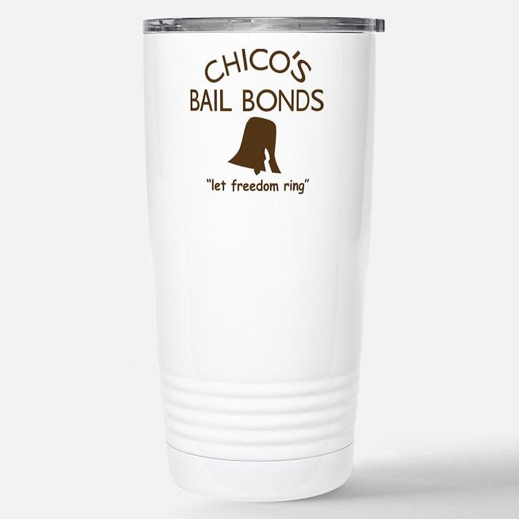 Chicos Bail Bonds Brown Stainless Steel Travel Mug