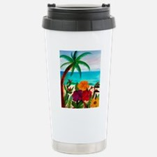 TROPICAL BEACH THROW BL Stainless Steel Travel Mug