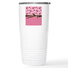 Cute Pink Ladybugs Travel Mug