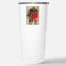 christmas card gold doo Stainless Steel Travel Mug